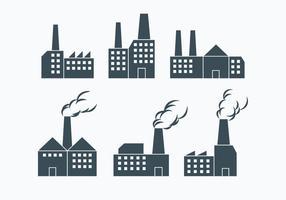Vecteurs de fumée d'usine vecteur