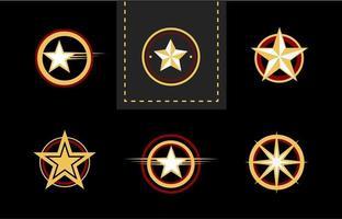 collection de concept de logo étoile vecteur