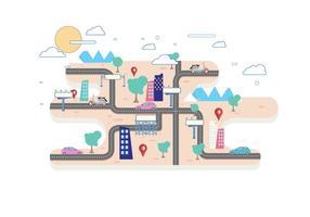 Vecteur de feuille de route urbaine