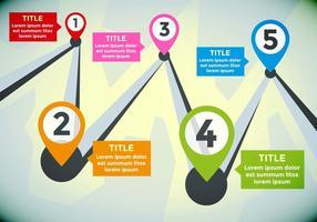 Feuille de route vectorielle d'illustration infographique vecteur