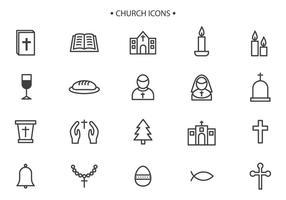 Vecteurs libres de l'église vecteur