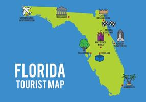 Carte de bande dessinée de l'état de Floride