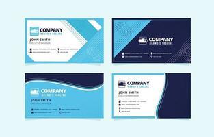 cartes de visite d'entreprise bleues vecteur