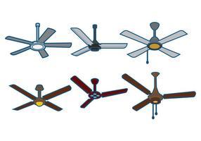 Ensemble de vecteur de ventilateur de plafond