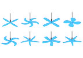 Ensemble d'icônes de ventilateur de plafond