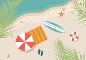 Plage d'été de planche de surf
