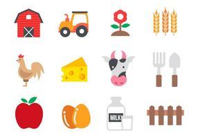Vecteur libre d'icônes agricoles