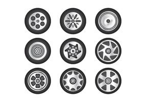 Collection de vecteur Hubcap gratuit