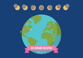 US Eclipse solaire vecteur