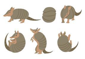 Icônes vectorielles d'armadillo