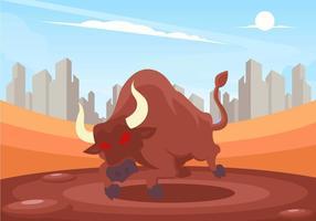 Vecteur rage taureau