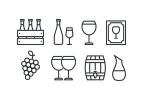 Paquet d'icônes de vin