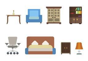 Vecteurs de meubles à domicile plat vecteur