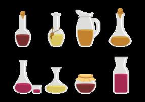 Vecteur d'icônes de décanteur