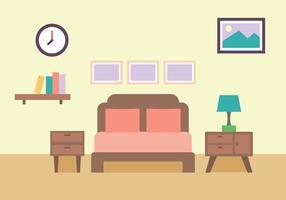 Illustration de chambre à coucher vecteur
