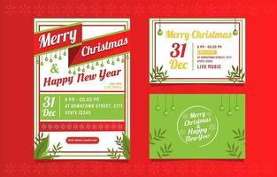 carte de joyeux Noël et bonne année vecteur