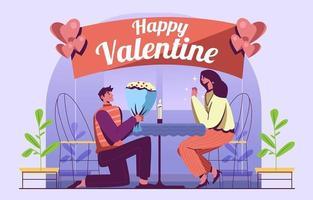 amour surprise couple sur illustration de la saint valentin vecteur