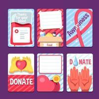 soutenir les autres par un don et une sensibilisation vecteur
