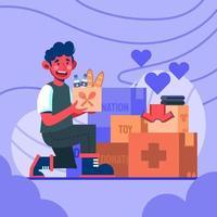 bonheur à partager avec don vecteur