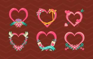 décoration coeur amour saint valentin vecteur