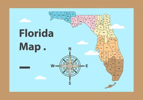 Free Vector Map de la Floride