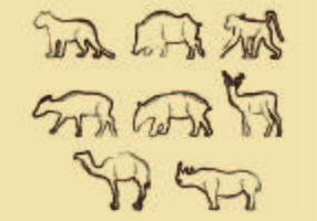 Lithographie de forme animale