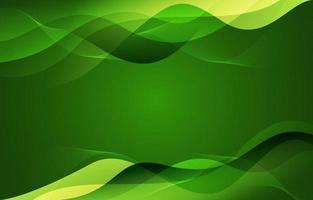 abstrait fond vert ondulé vecteur