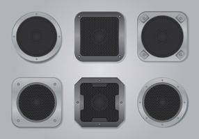 Ensemble d'illustration audio haut-parleur vecteur