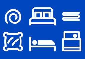 Vecteur d'icônes de literie