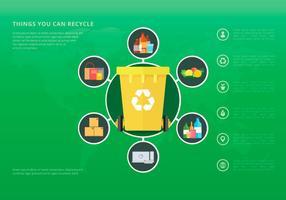 La vie de la nature. Processus de recyclage. vecteur