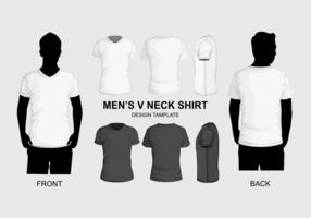 Modèle de chemise à encolure en V pour hommes vecteur