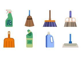 Vecteur gratuit d'outils de nettoyage de maison