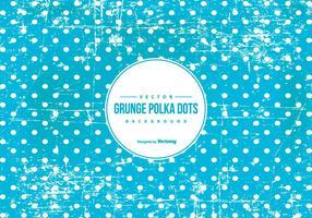Fond bleu de polka grunge vecteur