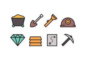 Icônes minières vecteur