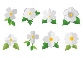 Vecteur libre d'icône de dogwood blanc