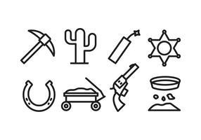 Ensemble d'icônes occidental vecteur
