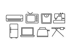 Ensemble d'icônes pour appareils ménagers vecteur