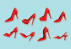 Vecteur de pantoufles rouges rubis