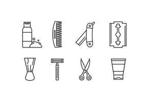 Icônes vectorielles de rasage vecteur