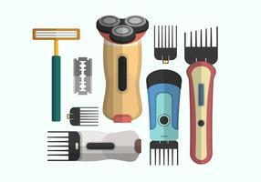 Collection d'objets vecteur rasoir