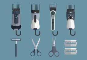 Collection d'objets vectoriels Shaver