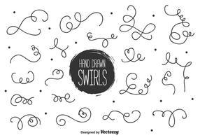 Swirls à la main vecteur