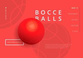 Bocce ball wallpaper illustration vecteur