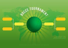 Illustration du tournoi de Bocce vecteur
