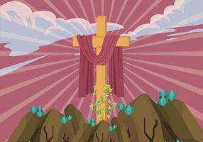 L'illustration vectorielle de la Croix-Rouge de la Carême vecteur