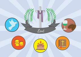 Carême Signe catholique vecteur