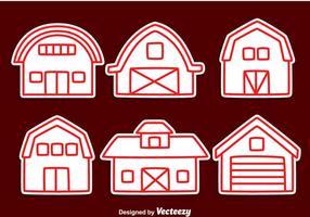 Vector de ligne de grange rouge
