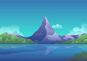 Paysage Matterhorn vecteur