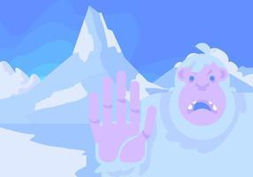 Matterhorn et Yeti vecteur