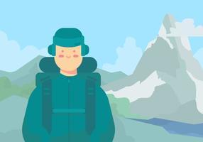 Randonnée Matterhorn vecteur
